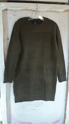 bce734a38fd FOREVER 21 WOMEN S Size S Olive Green Long zippered Sleeve leopard ...