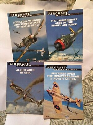 4 Osprey Aircraft Of The Aces Series Military Books