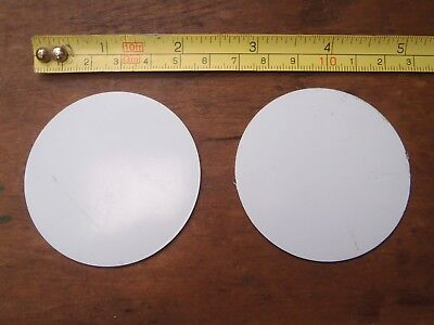 2 GRADE 430 STAINLESS STEEL DISCS .7 mm x 57 mm IN DIAMETER STAMPING / ENGRAVING