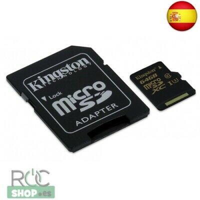 Kingston Gold Microsd Uhs-I Speed Class 3 (U3) 64Gb Con Adaptador