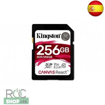 Kingston 256Gb Sdxc Canvas React 100R/80W Cl10 Uhs-I U3 V30 A1