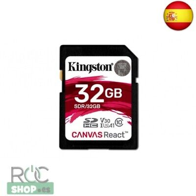 Kingston 32Gb Sdhc Canvas React 100R/70W Cl10 Uhs-I U3 V30 A1