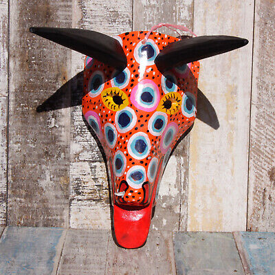 Mexican Wooden Folk Art Animal Mask - Deer Spotty