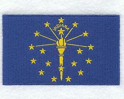 """Indiana State Flag Embroidered Patch 3"""" x 1.8"""""""