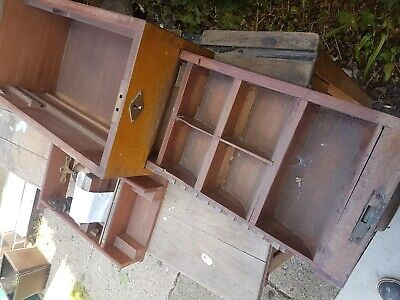 Antique  Shop Till Cash Register Wooden Brass Vintage Prop