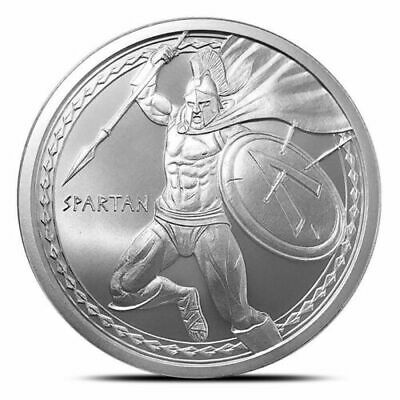 THE SPARTAN 1 oz .999 Silver Round Coin WARRIOR SERIES - #1 of 6, BU