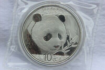 2018 China Chinese Panda 1 Oz .999 Silver 10 Yuan Coin