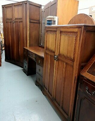 An Antique Old Charm Style Oak Triple Bedroom Suite Wardrobe ~Delivery Available