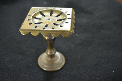 Antique Victorian Brass Candle Reflector, Candle Holder, Pierced Design 19th C.