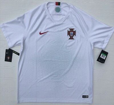 e52d6e4d8cd Nike 2018 Mens XL Portugal Away Soccer Jersey White Ronaldo 893878 100 D15