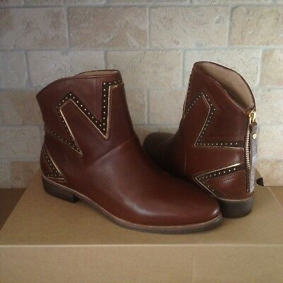 fa8d7b1bc61 UGG LARS MID Brown Leather Studs Starburst Ankle Boots Booties Us ...