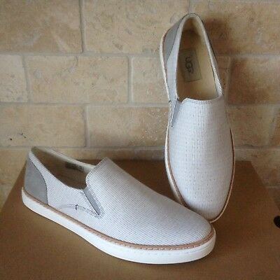 a00558c97b2 UGG ADLEY PERF Navy Blue Suede Leather Slip-On Sneakers Shoes Size ...