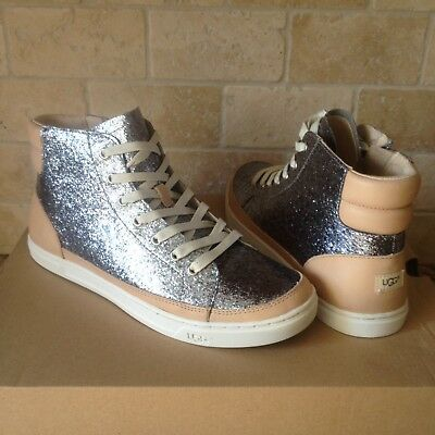 1c8d0a8a00f UGG AUSTRALIA GOLD GRADIE GLITTER LEATHER SNEAKER ANKLE BOOTS sizes ...