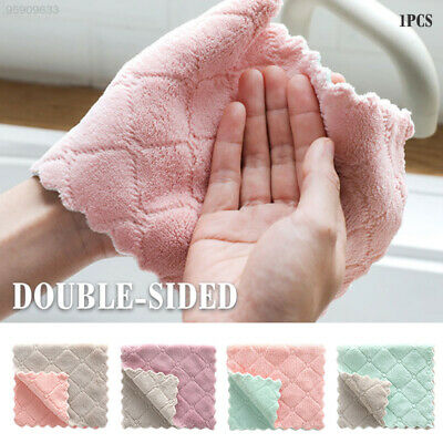 92A1 Absorbent Tableware Household Kitchen Cloths Towel Clean Home Microfiber