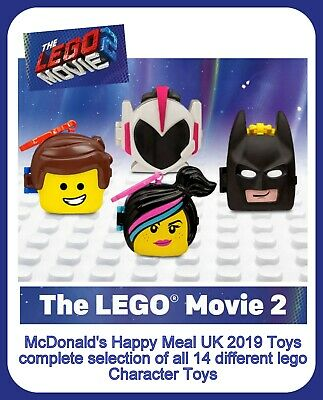 McDonalds Happy Meal 2019 UK 'Lego Movie 2' Character Toys Various new in bags