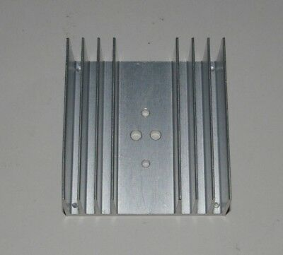 """Aluminum Heat Sink 3.6"""" x 3.4"""" x 1.4"""" for TO-3 Transistor"""