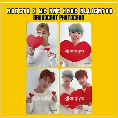 MONSTA X 'We Are Here' Alligator Official Broadcast Photocard
