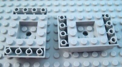 LEGO Lot of 2 Black 4x6 Double Inverted Slope Parts