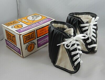 Vintage Everlast Adjustable Spats Training Ankle Weights Excellent Condition