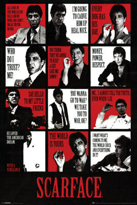 SCARFACE MOVIE POSTER COLLAGE - AL PACINO  LARGE - 24x36