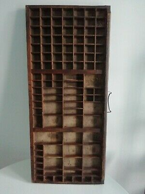 Antique Wooden Printers Typesetter Tray/Drawer over 100 spaces