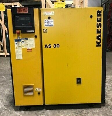 Used Kaeser 30 HP Rotary Screw Air Compressor AS-30