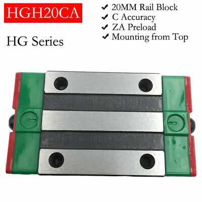 20mm HIWIN Linear Rail Slider HGH20CA Square Block Carriage for HGR20 Guideway