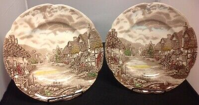 "Johnson Bros. Olde English Countryside Set of 2 - 10"" Dinner Plates"