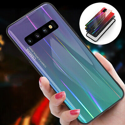 For Samsung S8 S9 S10 Plus S10e Tempered Glass Back Phone Case Protective Cover
