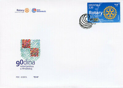 Croatia 2019 FDC Rotary International 90 Years 1v Set Cover Stamps