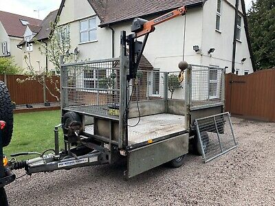 Ifor Williams Lt105 Hi-ab Crane Trailer Plant Tractor Cage Sides Logs Ramps Mesh