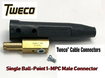 Tweco 1-MPC-1 Single Ball Point Male Cable Connector; 4-1 AWG