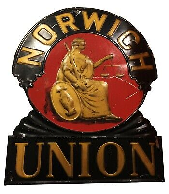 Original Norwich Union Fire Insurance Fire Mark/Insurance Plaque