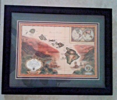 MAP of the Sandwich Isles Framed