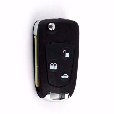 1PC Car 3 Button Flip Remote Key Fob Case Shell for Ford Mondeo Fiesta Focus