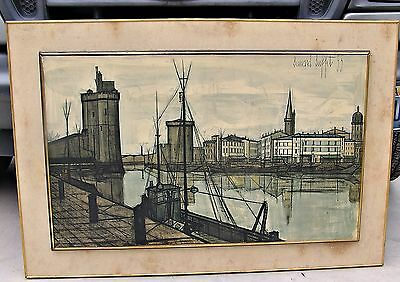 Enjoyable Vintage Lithograph Art Print Bernard Buffet The Black Ships Home Interior And Landscaping Palasignezvosmurscom