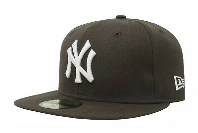 New Era 59Fifty Cap MLB New York Yankees Mens Brown White Custom Fitted 5950 Hat