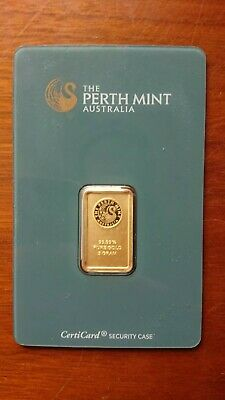 NEW 5 Gram Gold Bar - The Perth Mint Australia .9999 Fine Bullion In Assay 57163