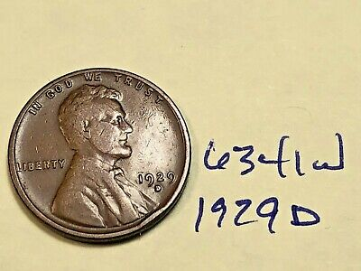 1929 D Lincoln Cent Very Nice Premium Collection 6341W Wheat Penny