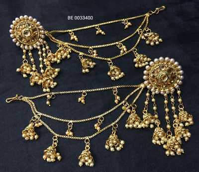 Jewelry & Watches 9pcs Bridal Necklace Set Green Pearl Lct Gold Kundan Polki Dance Padmavat Eid Selected Material Engagement & Wedding