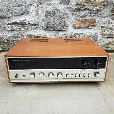 Vintage 1970's Sansui Stereo Tuner Amplifier Solid State 1000X Japan w/ Foam Box