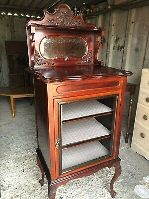 Lovely Edwardian Mahogany Pillar Cabinet