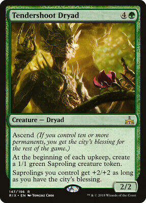 Tendershoot Dryad Rivals of Ixalan NM-M Green Rare MAGIC GATHERING CARD ABUGames