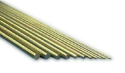 K&S Round Metric Brass Rods Various sizes available 0.5 - 4mm x 300mm Long