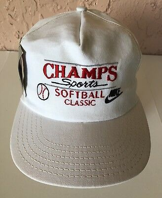 53a8c2dbf69 Vintage The Game Champs Sports Softball Classic Nike SnapBack Hat (Glued Tag )