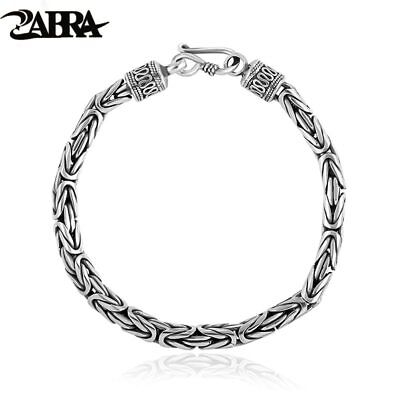 Bracelet 2 Size for Lovers Real Solid Pure 925 Sterling Silver Peace Lines Cool