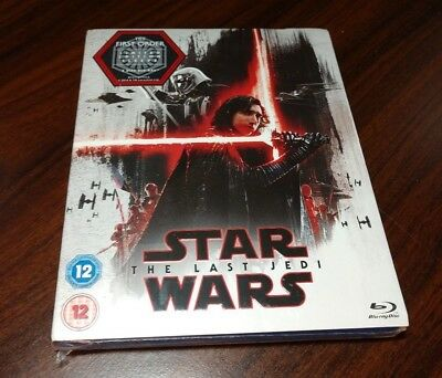 Star Wars The Last Jedi (Blu-ray.REGION FREE)Limited Edition Slipcover-Brand NEW