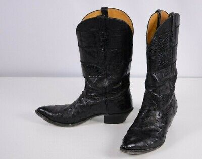 f71bb1b870e LUCCHESE SAN ANTONIO Usa Ostrich 11B Gently Used Nice Vintage Boots ...