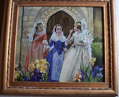"""Charmaine Gurule fine large framed painting """"Ceremony"""" very detailed"""