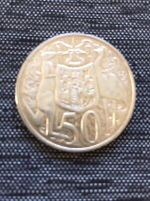 "1966 Australian ""Round Silver 50 Cent"" Coin - 80% Silver,  good condition"